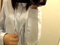 Japanese teen makes a video of herself masturbating at home