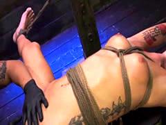 Sabrina Banks handcuffed bondage sex