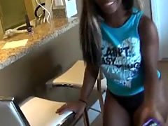 Amateur big black ass girlfriend pumped and videotaped