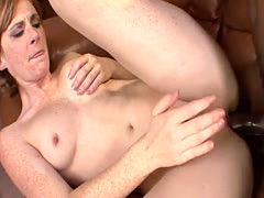 Petite brunette fucked by black cock