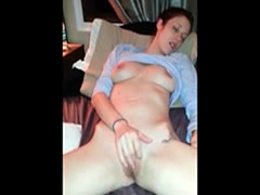 Nice blowjob while she fingering her cunt