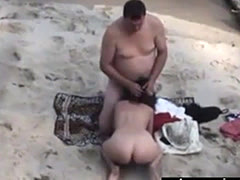 candid video my mom and lover at the beach
