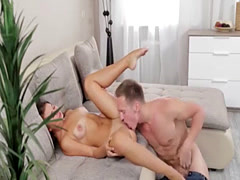 Couple enjoys foreplay and fingering