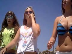 girl bikini big bouncing tits