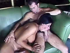 Aline Ganzarolli is a sexy Latina tranny who is hungry...not for a mea