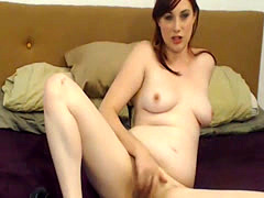 Naughty Redhead Chick spreading her tight pussy
