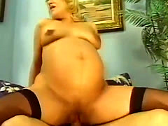 Cock Sucking Pregnant Bitch
