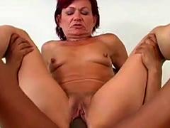 Redhead sustains a hardcore throbbing