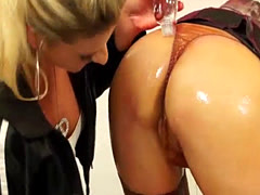 Blonde Sluts Oil Each Other Up
