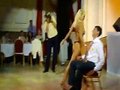 Russian blonde stripper