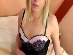 Blonde Pussy Peak Striptease