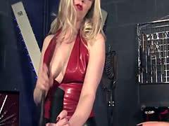 BDSM electricalplay mistress closeup action