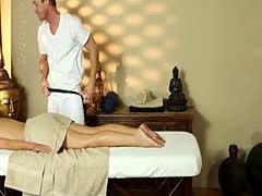 Secret voyeur movie of nasty masseur copulating customers