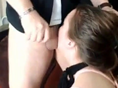 Submissive Girl Sucks Her Boyfriends Cock