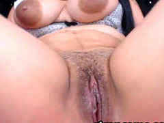 Big Tittied Latina Masturbation With SexToy