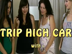 strip high card with Asia, Iris, Tatiana and Berenika
