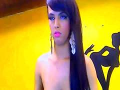 Latina shemale strock her cock