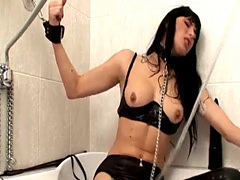 Beautiful fetish butt actions with latex and bdsm
