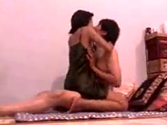 Indonesian couple wild love making
