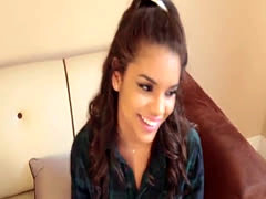 Ebony teens chin dripping