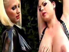 Fetish girls in latex using bdsm vibrators