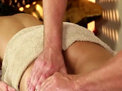 Very tricky massage room of adorable masseur