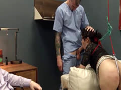 graceful violently banged bdsm babe with ropes