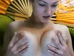 Sweet Wet Messy College Pussy Masturbation on Webcam