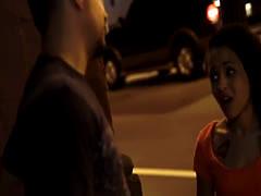 Holly Hendrix is brutal Pick-Up, and gets brutal sex in dark alley