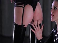 Luxury pantyhose on strapon girlsongirls