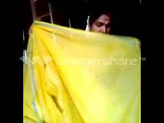 Mausi stripping saree
