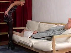 Super Hot Blonde Milf Sucks Young Cock and Gets Fucked Hard