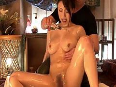 Smokin hot Japanese mature enjoys a sensual massage fuck