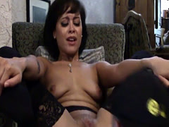 Stockinged amateur pussylicked and fucked