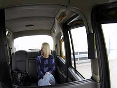 Brit taxi babe titfucking cabdriver