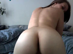 Adorable Webcam Girl Rubs Pussy Doggy Style