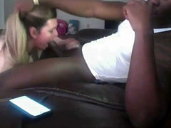 White Chick Sucking Black Dick