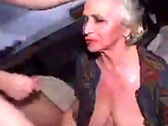 Granny Drunk And Abused