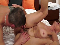Old Woman Blowing A Hard Dick