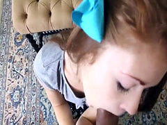 Redhead babysitter railed