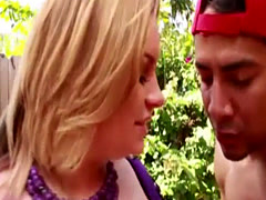 BBW Blonde Chloe Give Pool Boy A Blowjob