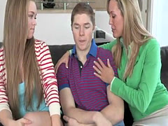 Bigtitted cougar doggystyled in taboo trio