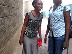 Serwa and Therma are two hot African lesbians who love having sex in b