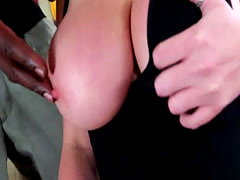 Babe Brooke Wylde enjoys titty and pussy interracial fuck