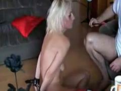 Humiliating mature German amateur Slave Heidi