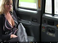 Busty american taxi babe sprayed cuminmouth