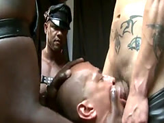 Sub brown bottom doggystyled in sexdungeon