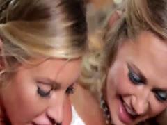 Glamorous lesbian pleasure pussies using tongues and agile fingers