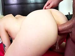 Tattooed girlfriend gets anal ...