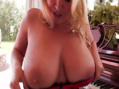 Busty harlots have some fun a...